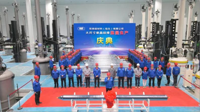 双良硅材料大尺寸单晶硅棒实现批量生产!